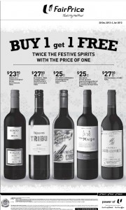 Fairprice wine supermarket promotions
