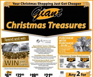 Giant Christmas Treasures supermarket promotions