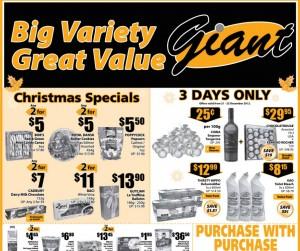 Giant christmas supermarket promotions