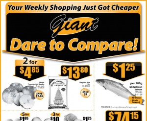 Giant dare to compare supermarket promotions