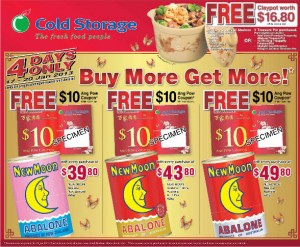 Cold Storage chinese new year abalone promotions