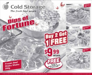 Cold Storage steam boat supermarket promotions