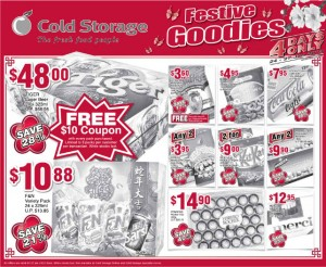 Cold storage festive goodies supermarket promotions