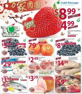 Cold storage fruits supermarket promotions