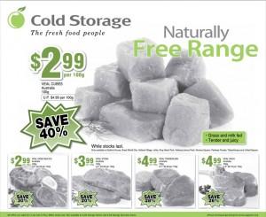 Cold storage meat supermarket promotions