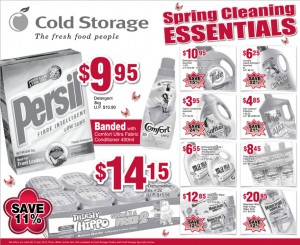 Cold storage spring cleaning essentials supermarket promotions