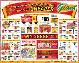 Giant chinese new year supermarket promotions