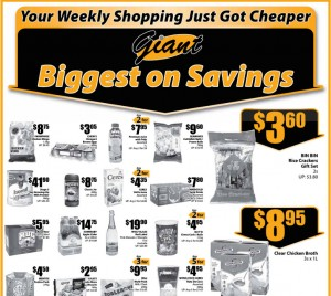 Giant supermarket promotions