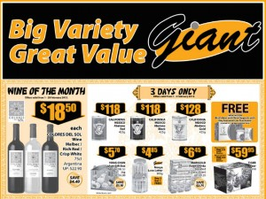 Giant wine supermarket promotions