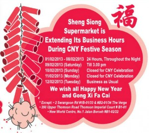 Sheng siong cny extended business hours