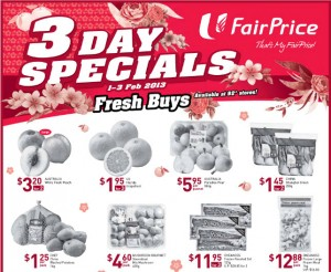 fairprice 3 day special supermarket promotions