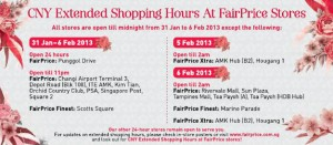 fairprice cny extended shopping hours