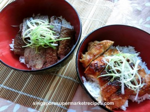 Teriyaki Chicken Rice Bowl Recipes with Daiso Sukiyaki Sauce