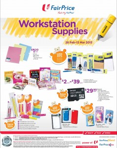Fairprice stationery supermarket promotions