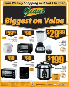 Giant cooker supermarket promotions