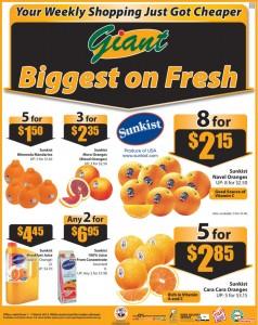 Giant orange supermarket promotions