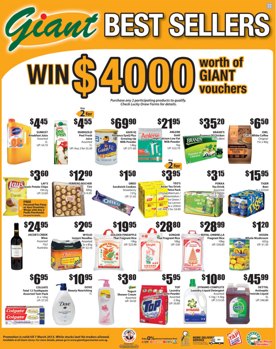 Giant supermarket promotion