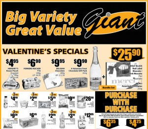 Giant valentine's day supermarket promotions