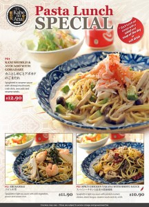 Kabe no ana pasta lunch special promotions