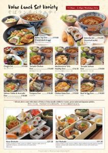shimbashi value lunch set promotions