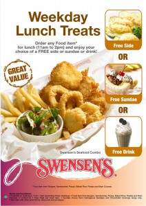 swensen's weekday lunch treats promotions