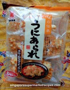 Sea Urchin Rice Crackers