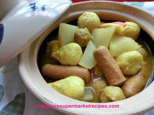 Macau style curry fish balls