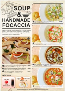 Fruit Paradise Soup & Handmade Focaccia Promotions