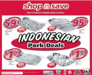 Shop n save indonesian pork supermarket promotions