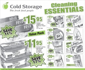 cold storage cleaning essentials supermarket promotions