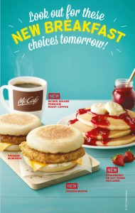 macdonald new breakfast menu