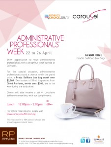 Carousel administrative professionals' week promotions