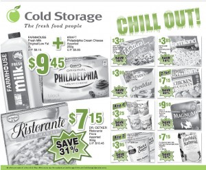 Cold Storage frozen goods supermarket promotions