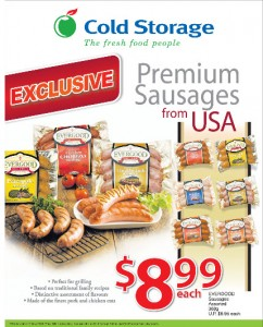 Cold storage premium sausage supermarket promotions
