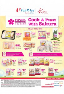 Fairprice Sakura products supermarket promotions
