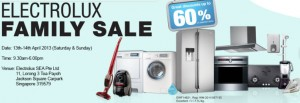 electrolux family sale 2013