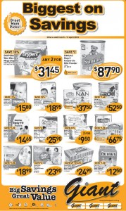 giant baby products supermarket promotions
