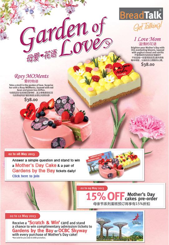 Breadtalk Mother S Day Cake