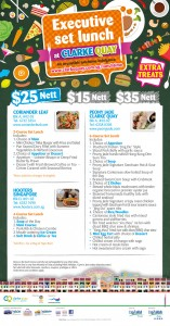 clarke quay $25 nett lunch promotions