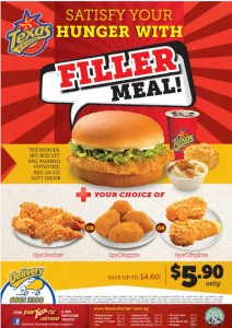 texas chicken burger meal promotions