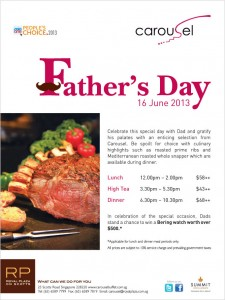 Carousel Father's Day dining promotions