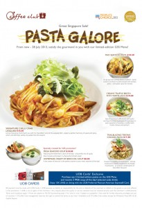Coffee Club Pasta Gala GSS Promotions 2013