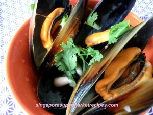 Garlic Mussels with White Wine