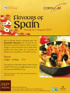 carousel spanish buffet promotions