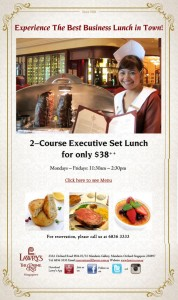 lawry executive lunch set