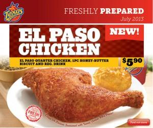 texas chicken new flavour el paso chicken