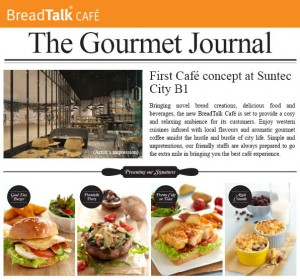 breadtalk cafe opening promotions