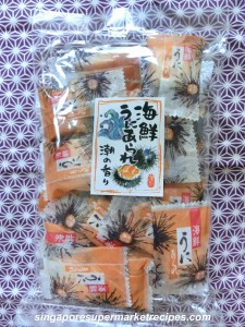 japanese uni rice crackers