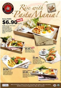 pasta mania breakfast menu