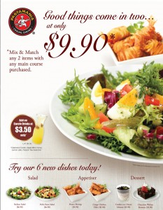 pasta mania mix & match promotions